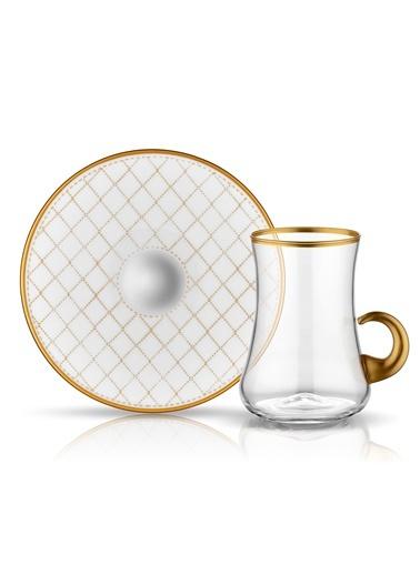 Koleksiyon Dervish Kulplu Çay Seti 6'lı Kapitone-Koleksiyon
